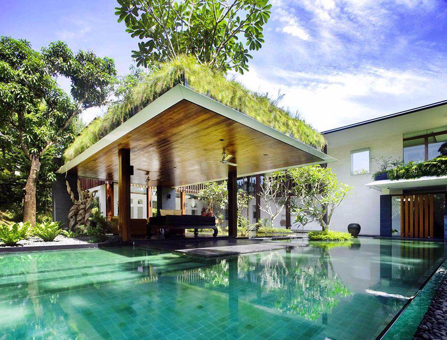 Rumah Tropis Modern Sun House