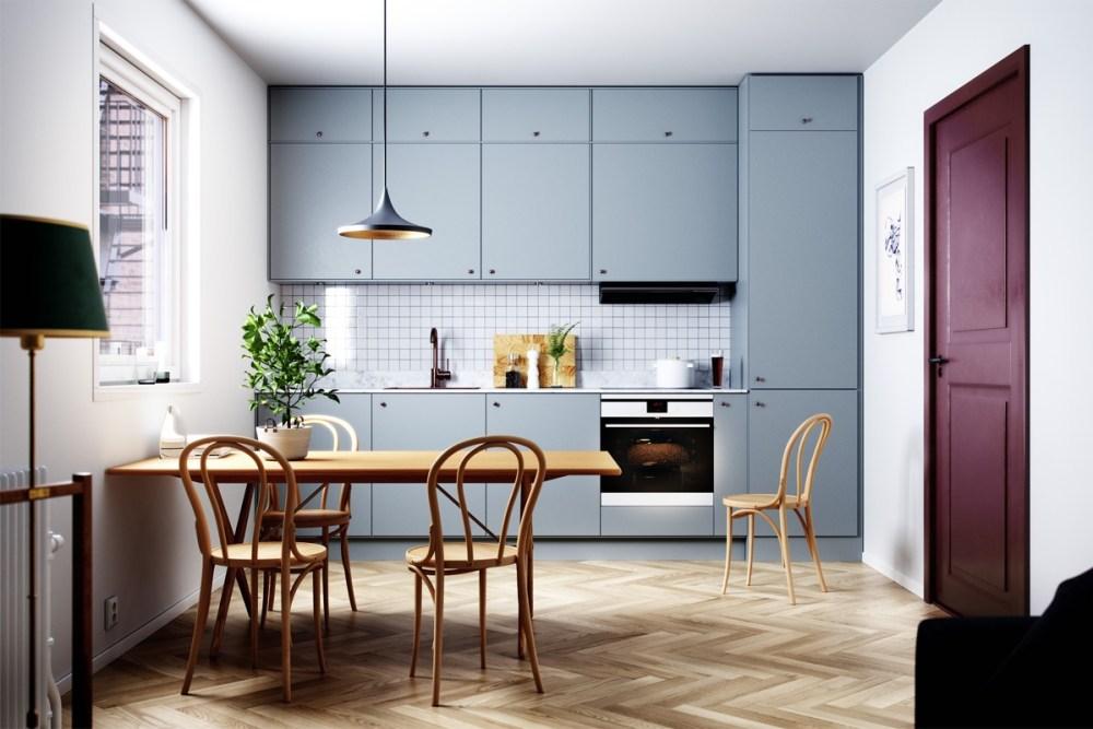 Dapur minimalis modern dengan ekstra storage