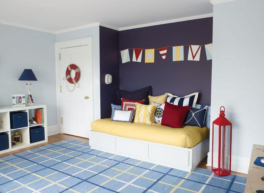 Kombinasi warna cat rumah untuk kamar anak nautical