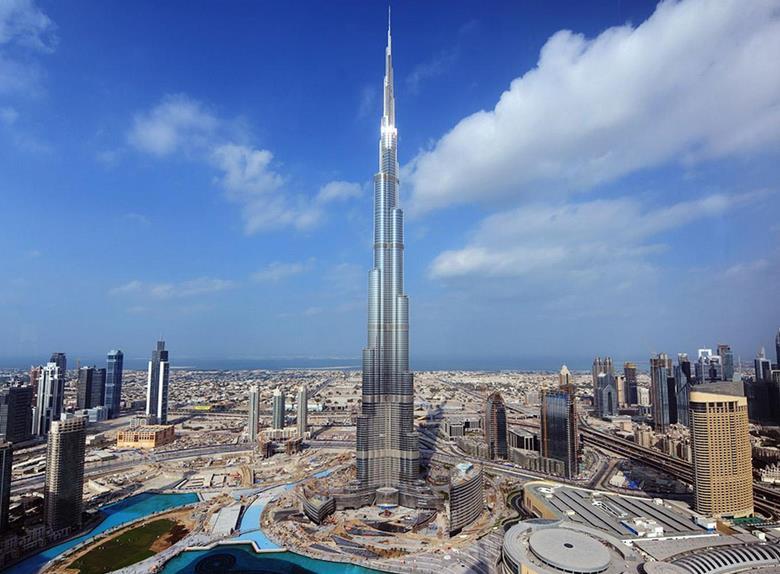 Gedung Pencakar Langit Burj Khalifa