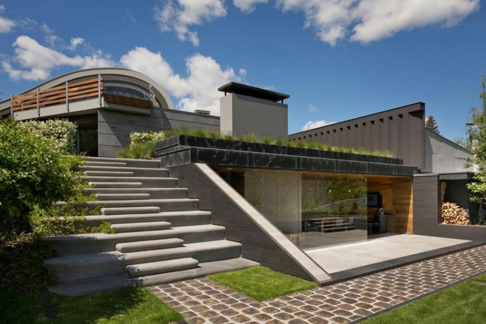 Penerapan Bentuk Organik untuk Rumah Kontemporer