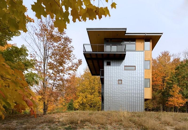 Rumah Kontemporer dengan Konsep Tower