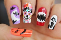 Video uñas Halloween