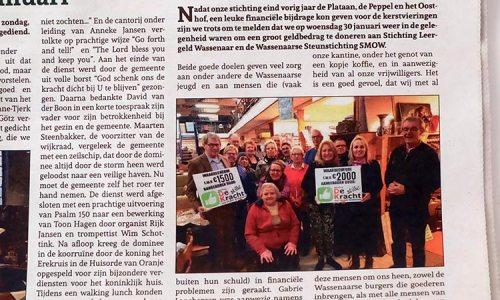 Artikel In De Wassenaarse Krant Donaties De Stille Kracht Van Wassenaar.