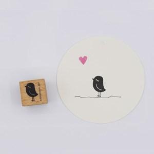 Perlenfischer stempel vogel dame klein | De Kroonluchter