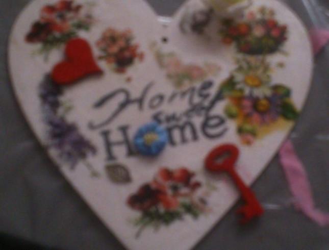 warsztaty decoupage'u Leszno Dwie Babeczki serce Home sweet Home