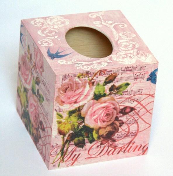 Kwadratowe pudełko na chusteczki