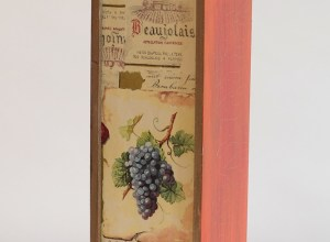 pudełko na wino decoupage