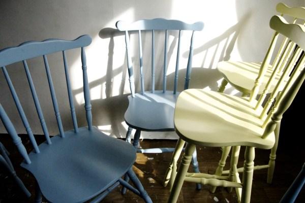 krzesło patyczak PRL refreshing farba kredowa