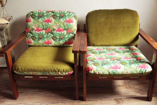 fotele PRL odnawianie mebli