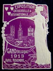gentoudsluitzegel (voor o.m. brief mee te sluiten)wereldtentoonstelling 1913