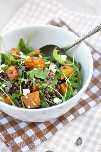 This earthy salad is fall in a bowl. Get the recipe from Anja's Food 4 Thought.