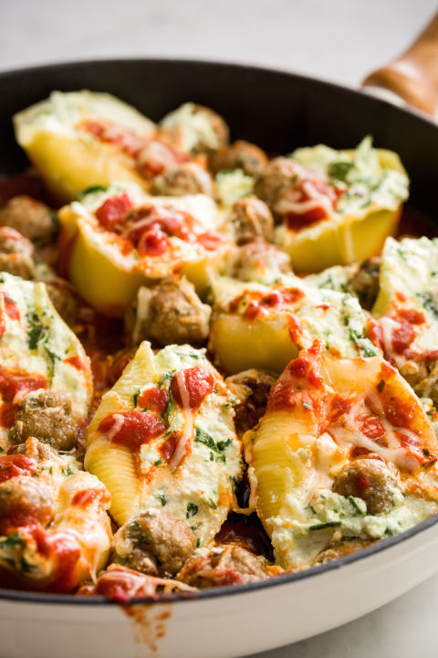 Mini turkey meatballs take these meaty shells to the next level. Get the recipe from Delish.