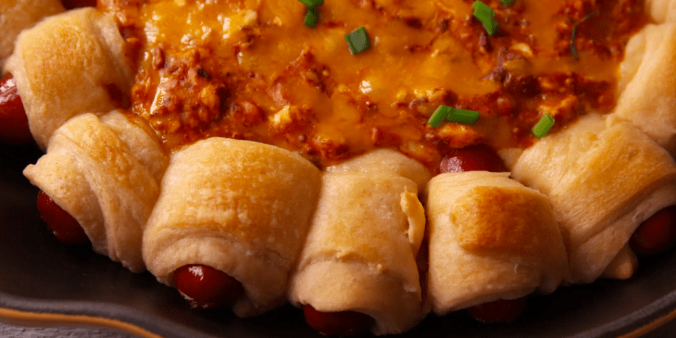 Crescent Roll Hot Dogs And Chili