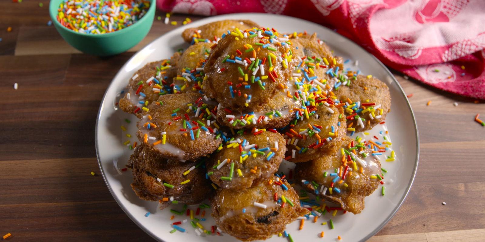 Birthday Cake Fried Oreos Recipe Funfetti Fried Oreos