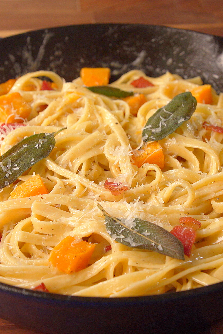 Best Butternut Squash Bacon Pasta Recipe How To Make