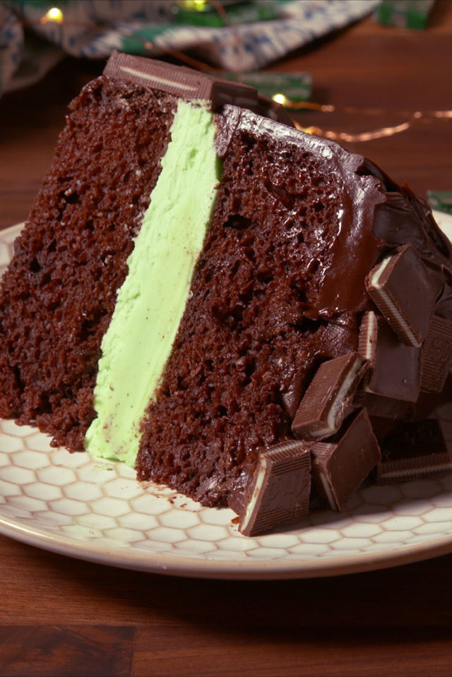 Andes Mint Cake Slice Vertical