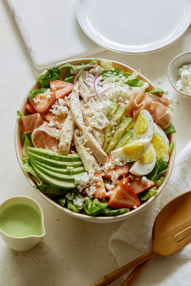 Strawberry Cobb Salad Vertical