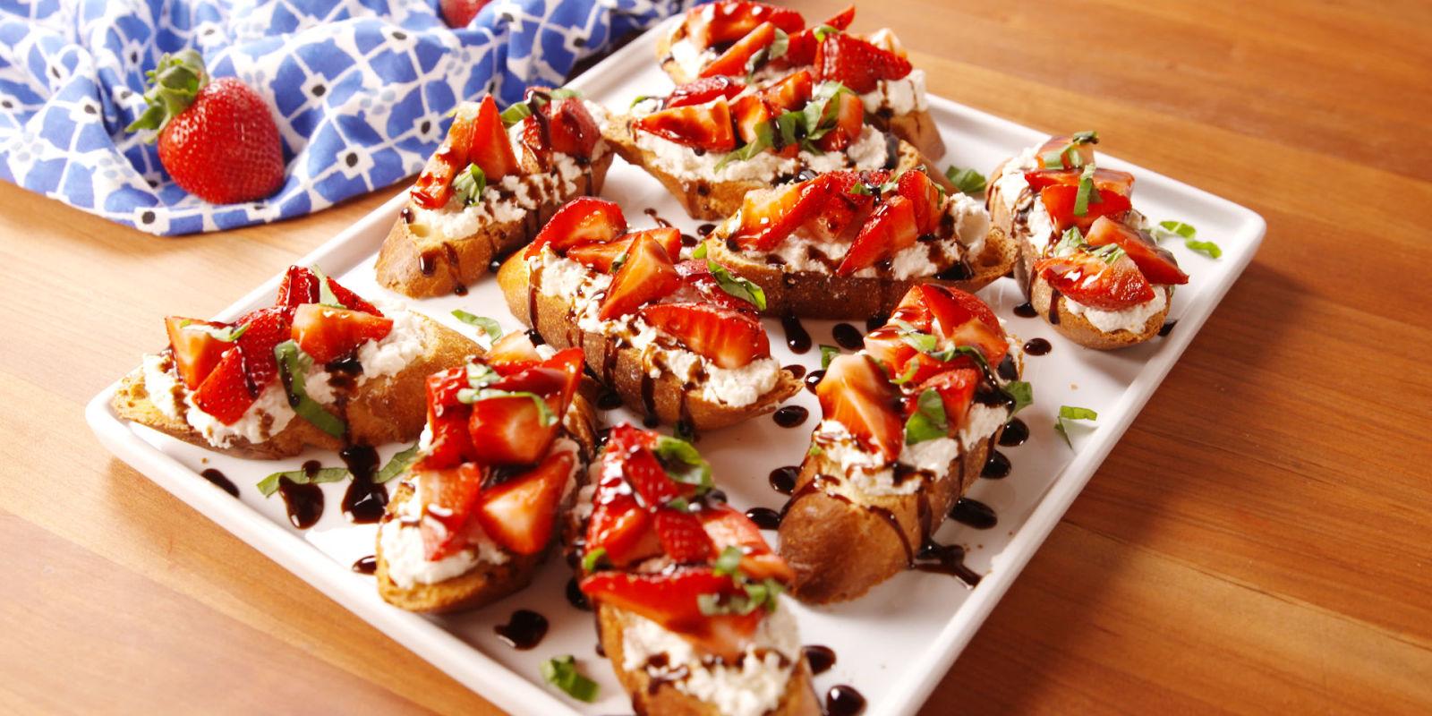Best Strawberry Balsamic Bruschetta Recipe How To Make