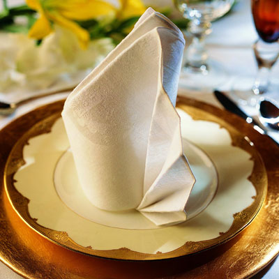 Be sure to use a crisp, starched napkin for best results.</p> <p>