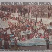 """20 años de los """"Escuelazos"""" en Bahía Blanca"""