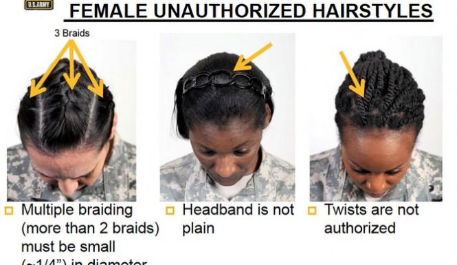 military army hair