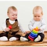Protagonistas de la Sentencia, cuando eran bebés