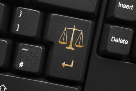 """Scales of Justice"" Key on Keyboard"