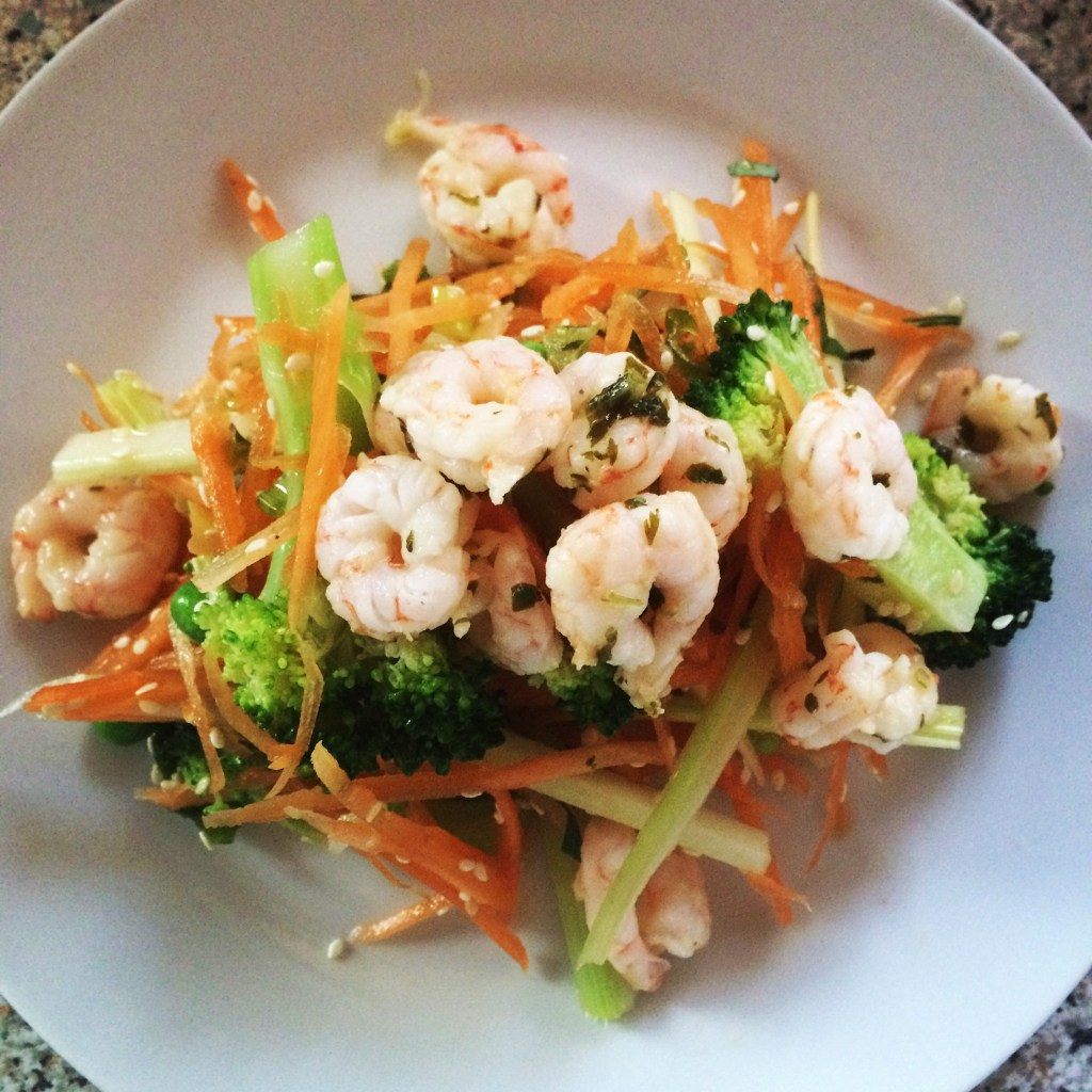 Crispy Asian Prawn Salad; Delalicious