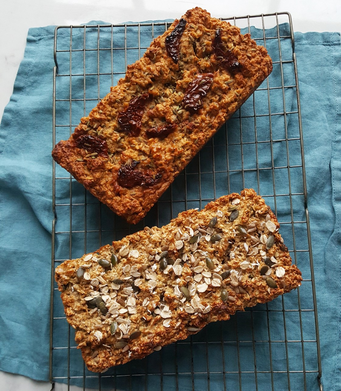 Sundried Tomato & Fennel Oat Loaf; Delalicious