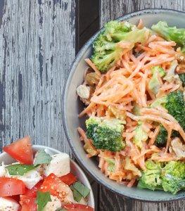 Crunchy Carrot, Broccoli & Peanut Salad; Delalicious
