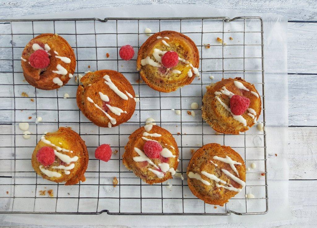 Mini Lemon, Raspberry & Poppy Seed Cakes; Delalicious