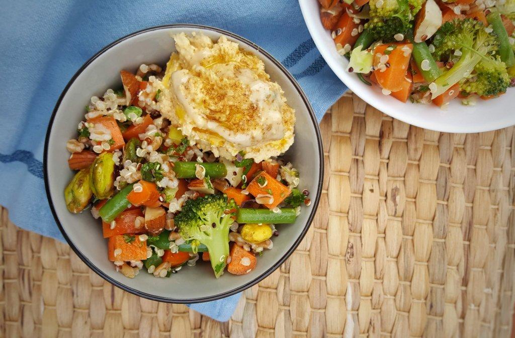 Spelt, Carrot & Greens Salad; Delalicious