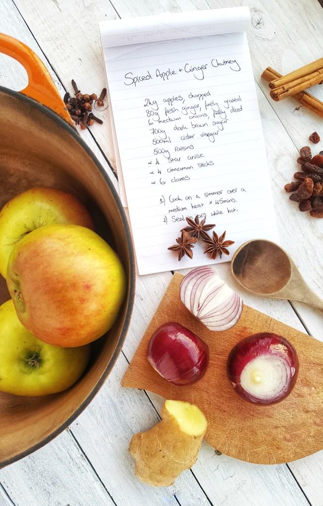 Spiced Apple & Ginger Chutney; Delalicious