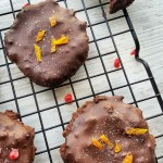 Salted Dark Chocolate Cookies; Delalicious