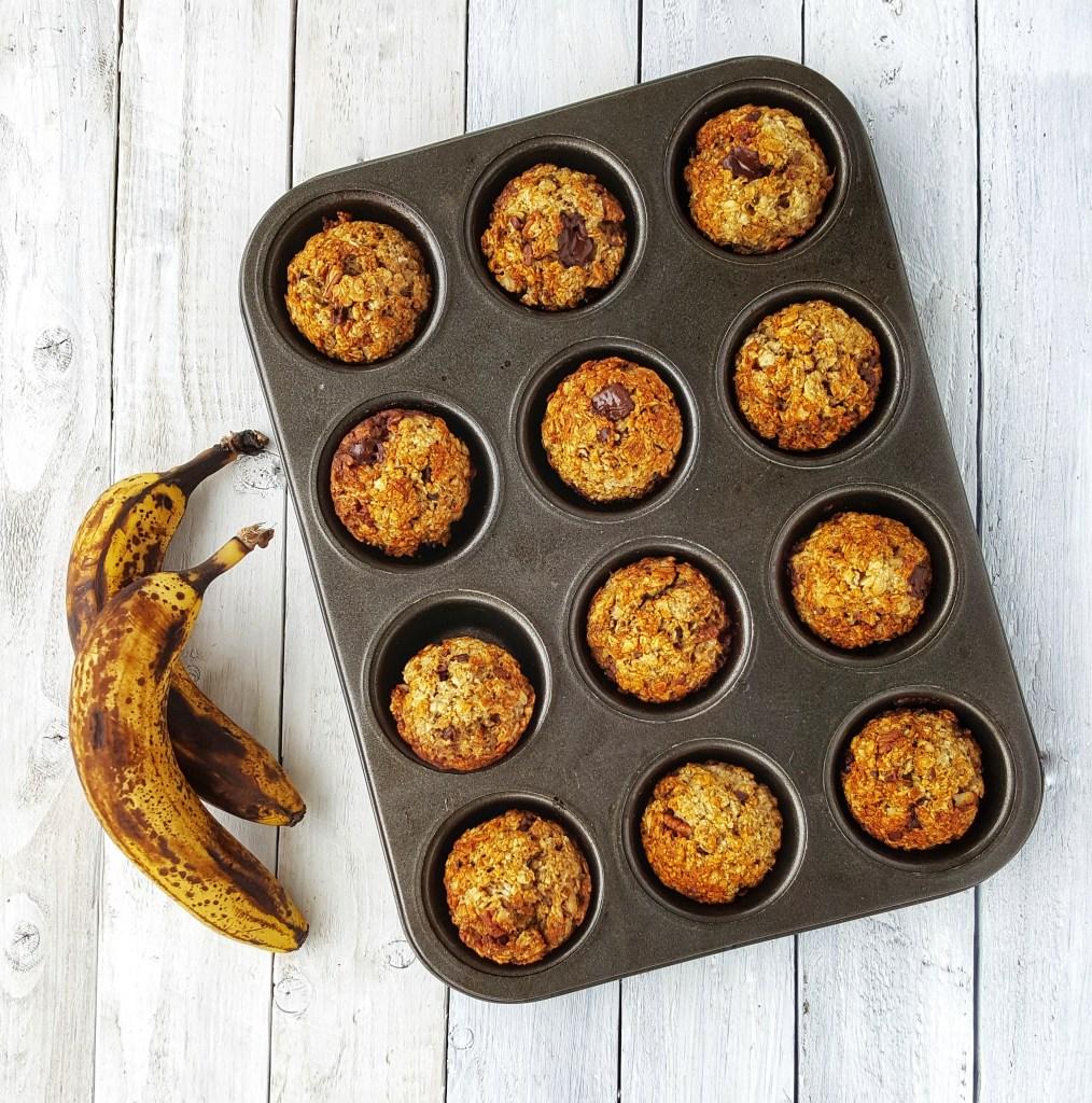 Banana, Dark Choc & Pecan Muffins; Delalicious; Sinead Delahunty
