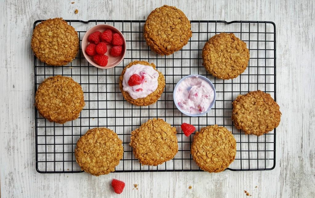 Raspberry & Oat Shortbread Cookies; Sinead Delahunty; Delalicious