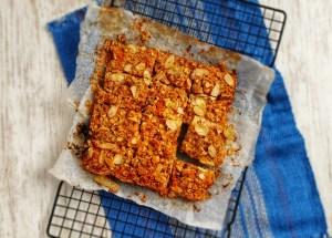 Oat & Apple Cinnamon Squares; Delalicious; Sinead Delahunty