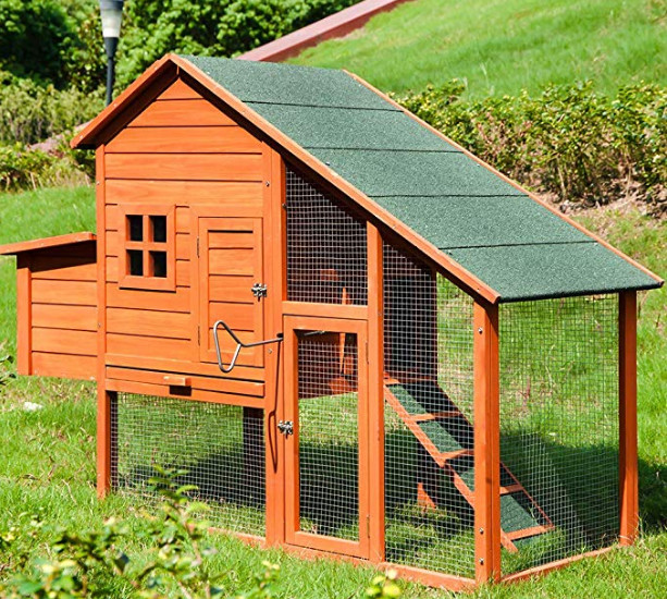 Merax Chicken Coop Wooden House Cage
