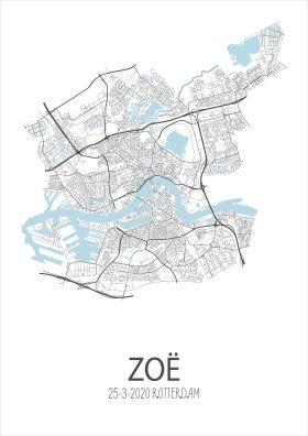 Geboorteposter Rotterdam