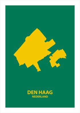 Abstracte stadsposter Den Haag