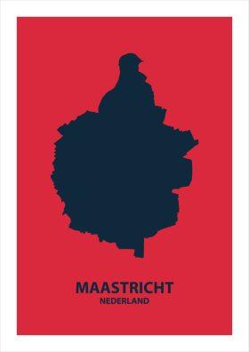Abstracte stadsposter Maastricht