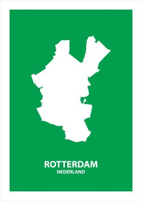Abstracte stadsposter Rotterdam