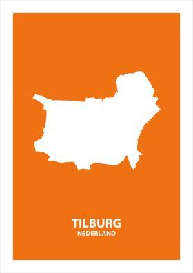 Abstracte stadsposter Tilburg
