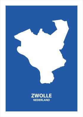Abstracte stadsposter Zwolle
