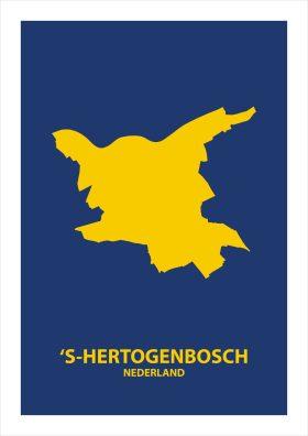 Abstracte stadsposter 's-Hertogenbosch