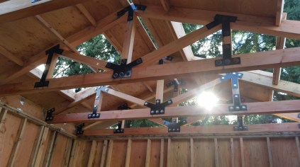 Trusses installed to perfection at our client's pool house