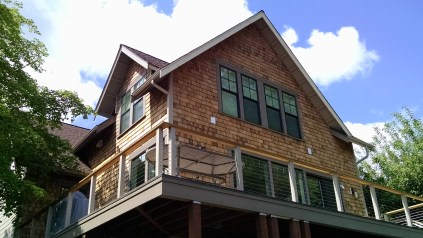 Cedar shake siding installlation finished pictures