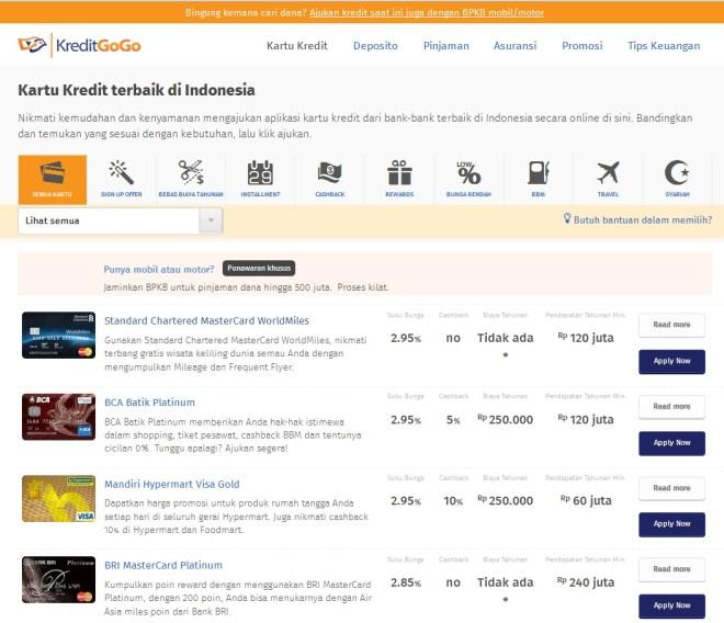 Pilihan kartu kredit untuk belanja (Groceries)