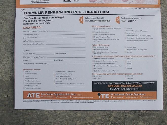 Form Pendaftaran Pengunjung